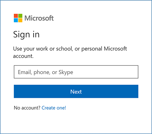 Account to login in hotmail You can't